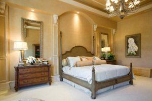 Как сделать комбинированное освещение в просторной спальне