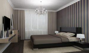 Комбинированный пол в спальню