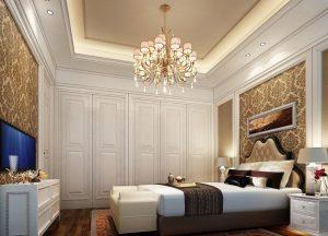 Люстра для классического стиля интерьера спальни
