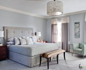 Люстра необычной формы для спальни