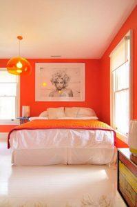 Оранжевая спальня с апельсиновыми нотками
