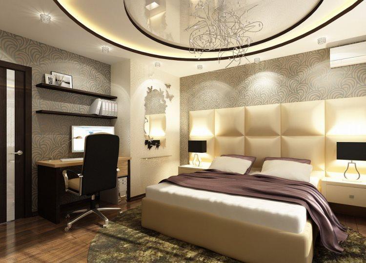 Спальная в бывшем зале фото