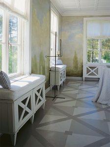 Основы покраски пола на основе дерева в спальне