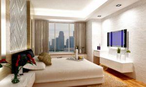 Особенности выбора места для установки телевизора в спальне