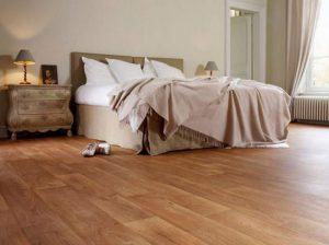 ПВХ-линолеум для оформления интерьера спальни