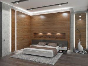 Паркет для создания приятной атмосферы в спальне