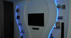 Подсветка для короба под телевизор из гипсокартона