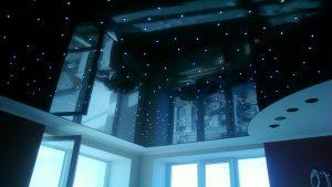 Потолок звездное небо в спальне