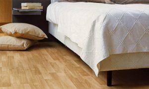 Практичность линолеума для спальни
