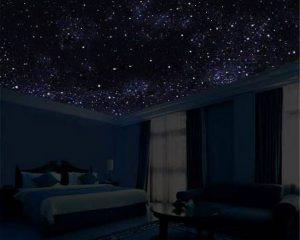 Применяем звездное небо в спальне