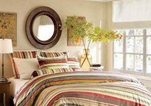 Размещение цветов в спальне