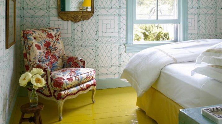 Способы покрасить пол в спальне