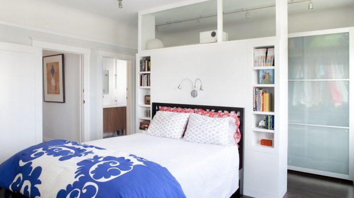 Стеллаж-перегородка для спальни