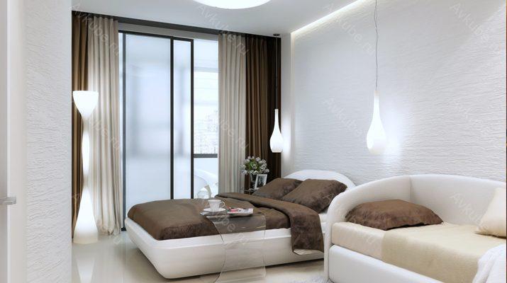 Уютная спальня с комбинированным освещением