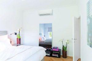 Выбор места для кондиционера во время обустройства спальни