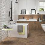 Облицовка стен керамической плиткой в ванной комнате
