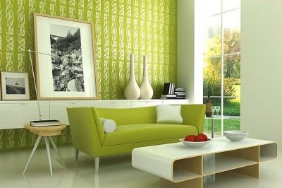 Зеленые мотивы в интерьере