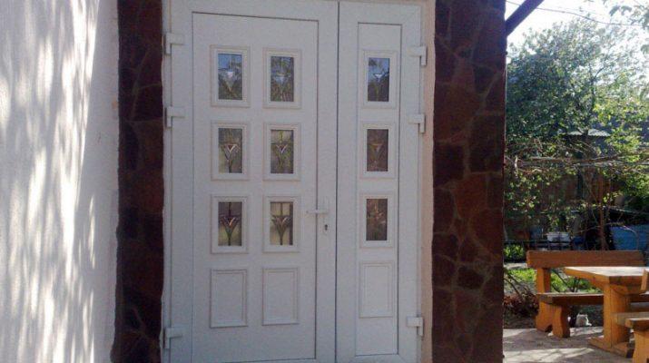 Отличные входные пластиковые двери для частного дома
