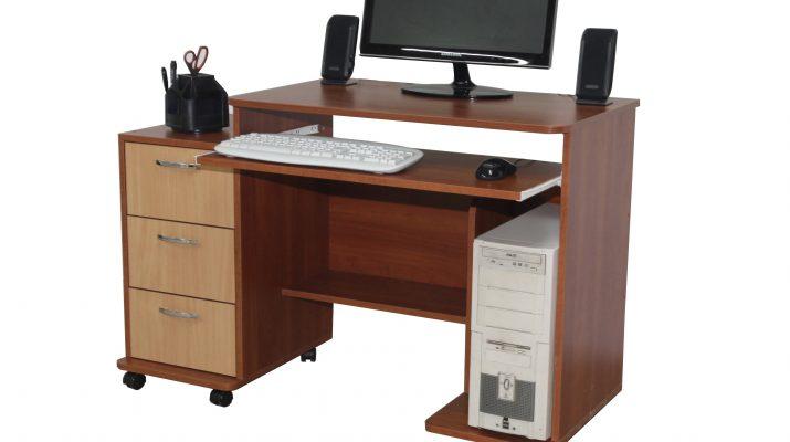 Тумба под компьютерный стол – варианты конструкций и размеры