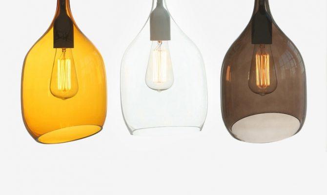 Подвесные светильники из стекла
