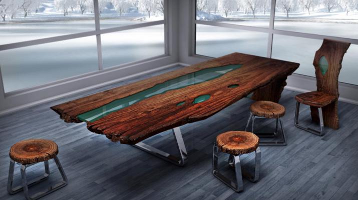 Появление стола из слэба