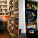 Как устроить рабочий кабинет в кладовке?