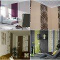 Обои двух видов в интерьер спальни, обзор
